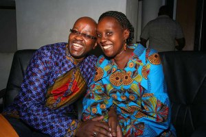 Chris Lyimo and his wife Wandia Njoya at Nation Centre in Nairobi on August 21,2015. PHOTO BY EVANS HABIL(NAIROBI)